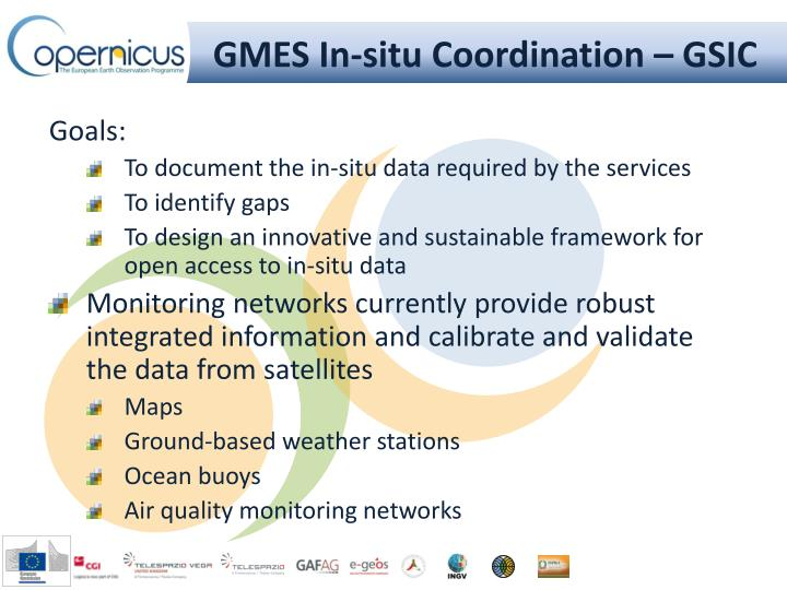 GMES In-situ Coordination – GSIC