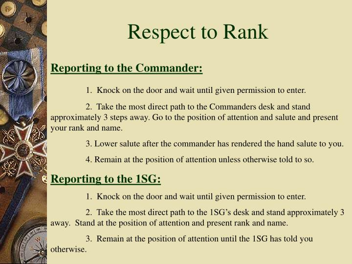 Respect to Rank
