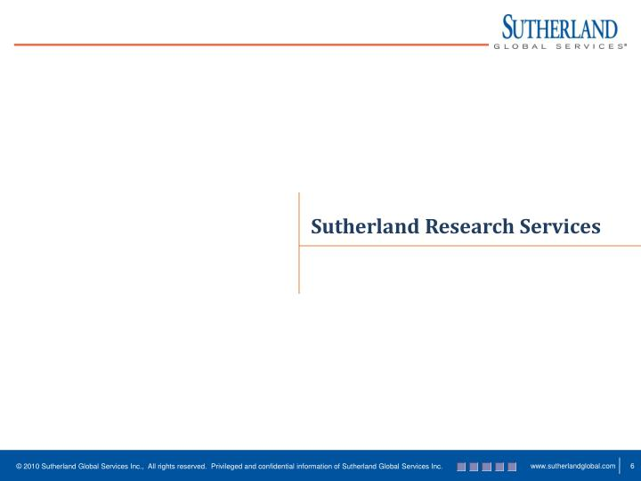 Sutherland Research Services