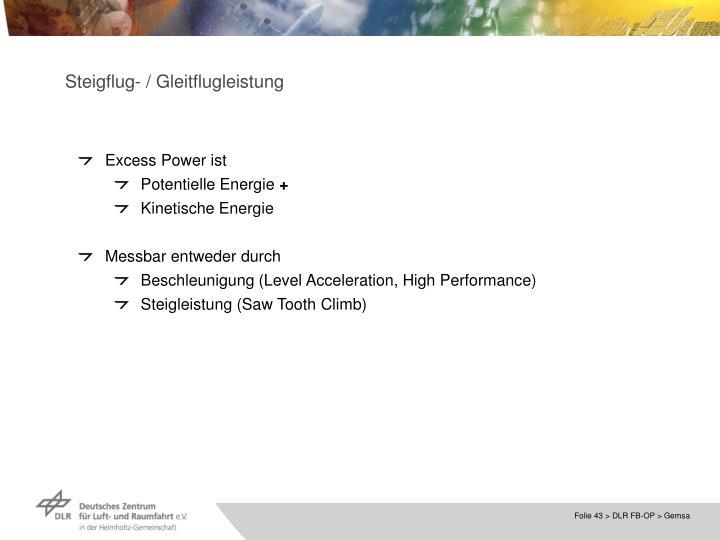 Steigflug- / Gleitflugleistung