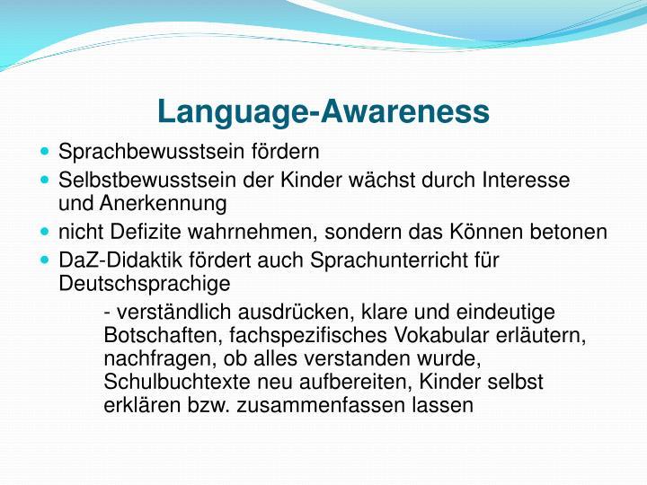 Language-Awareness