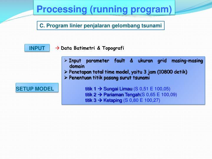 Processing (running program)