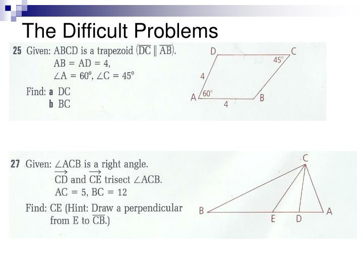 The Difficult Problems