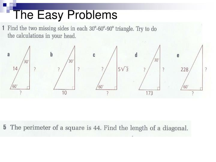 The Easy Problems