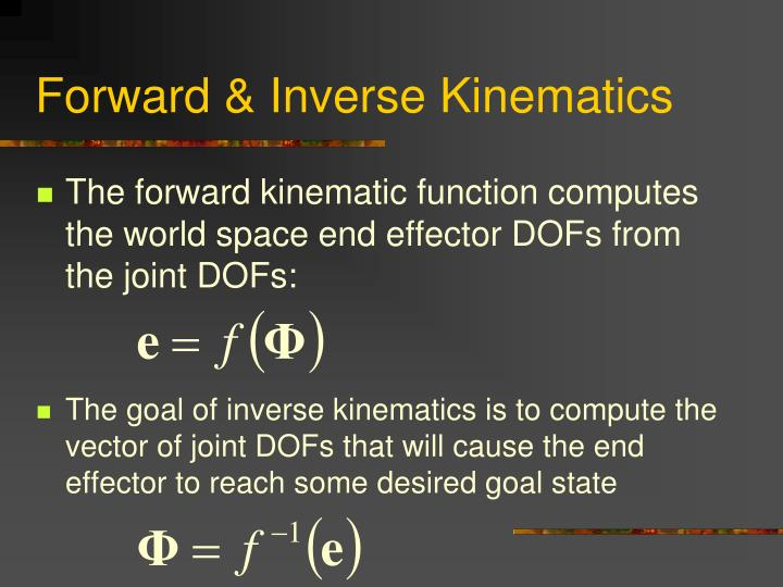 Forward & Inverse Kinematics