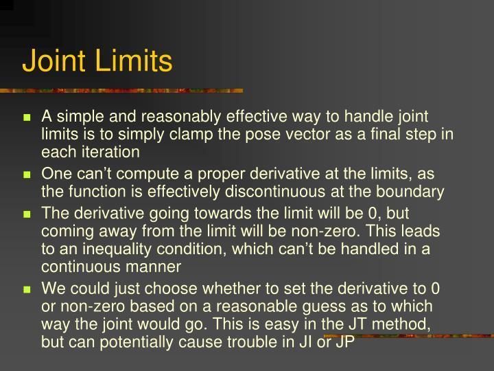 Joint Limits