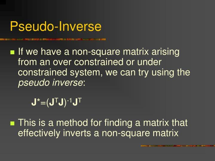 Pseudo-Inverse