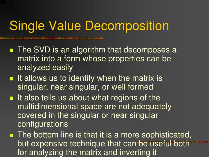 Single Value Decomposition