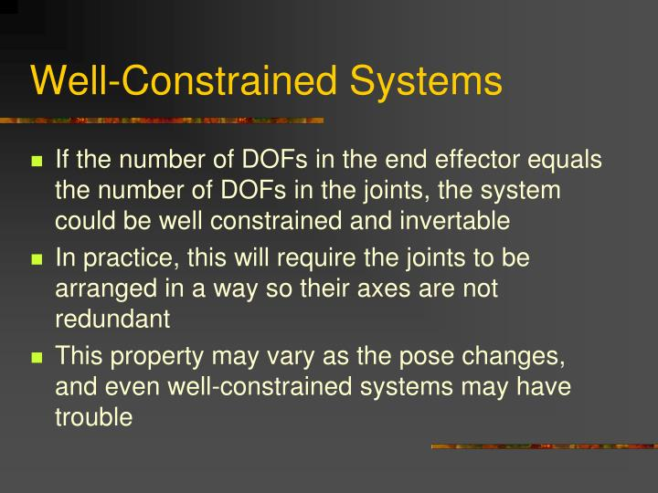 Well-Constrained Systems