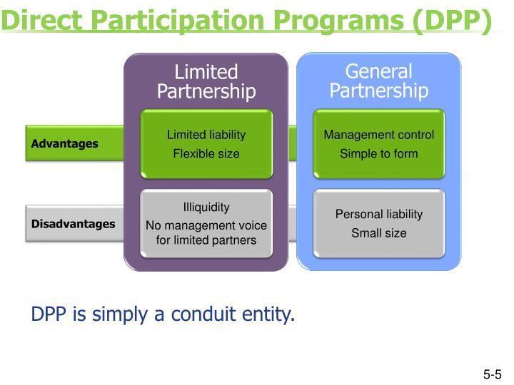 Direct Participation Programs (DPP)