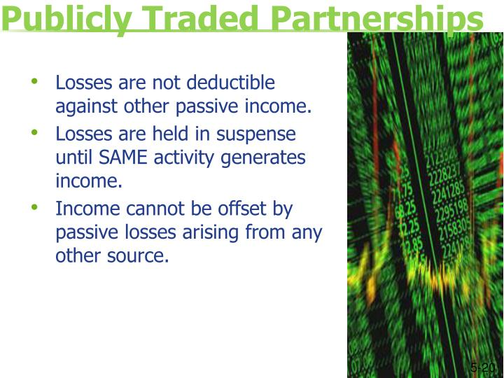 Publicly Traded Partnerships