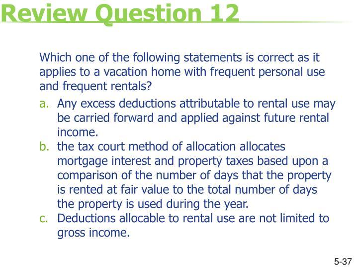 Review Question 12