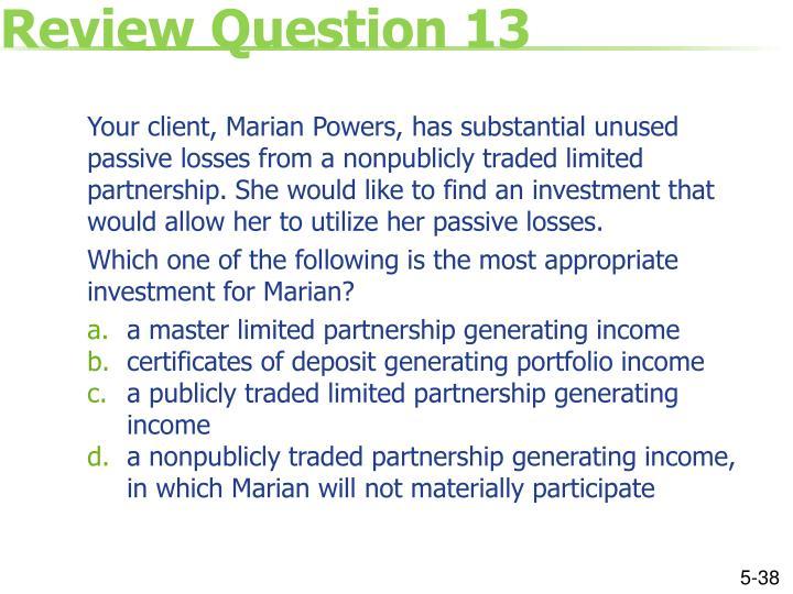 Review Question 13