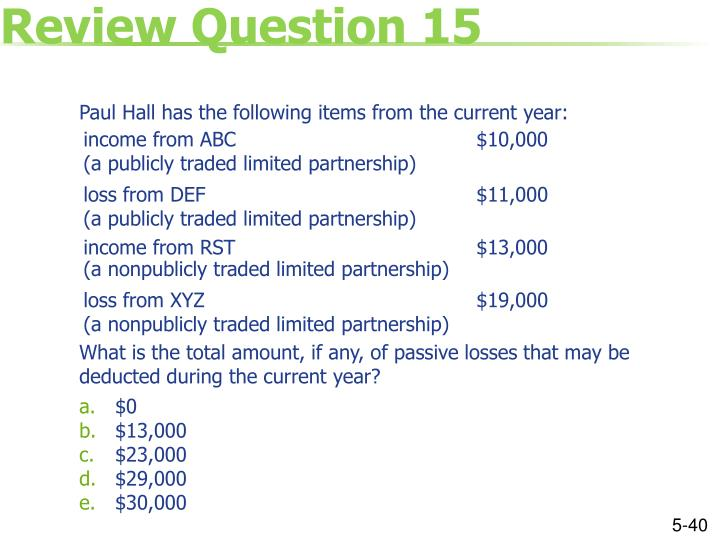 Review Question 15