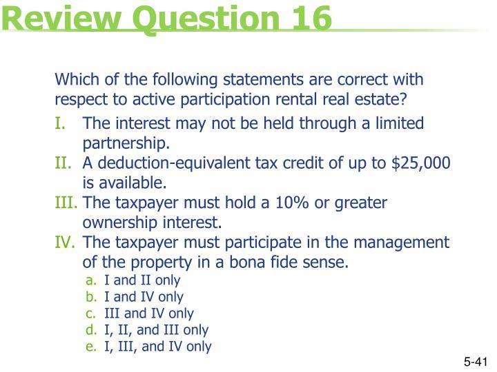 Review Question 16