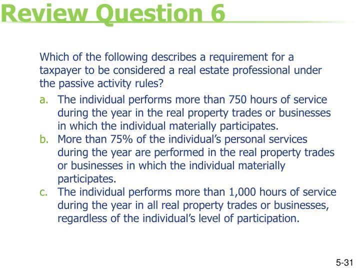 Review Question 6