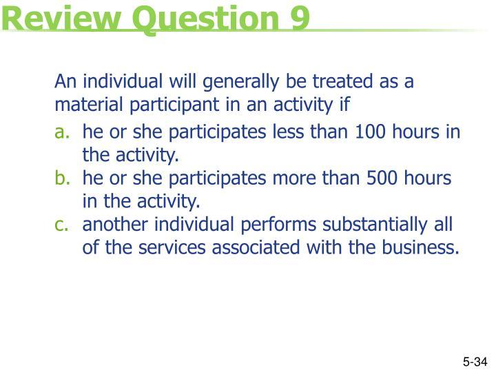 Review Question 9