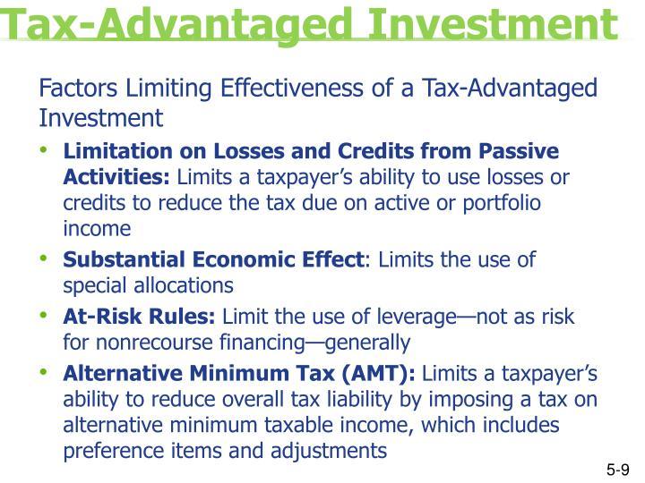Tax-Advantaged Investment