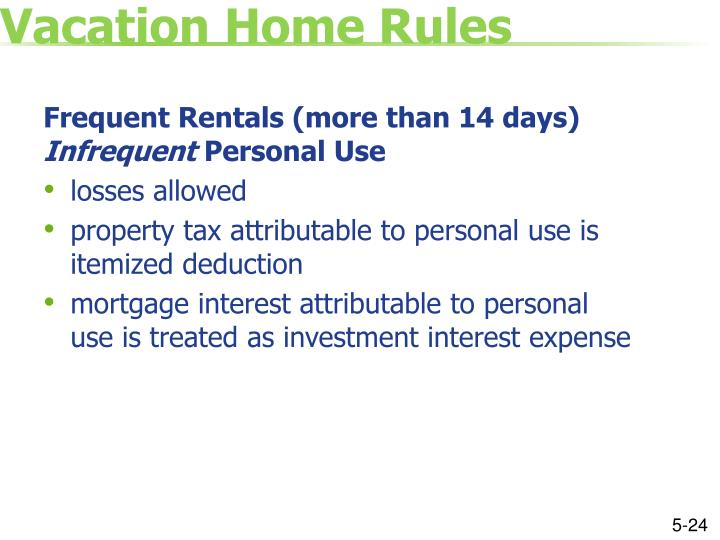Vacation Home Rules