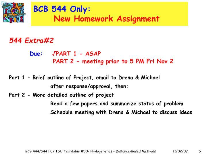 BCB 544 Only: