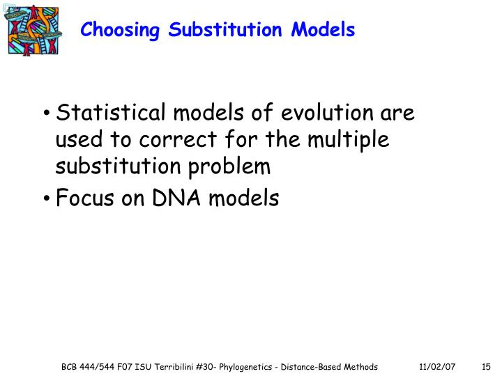 Choosing Substitution Models