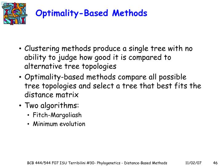 Optimality-Based Methods