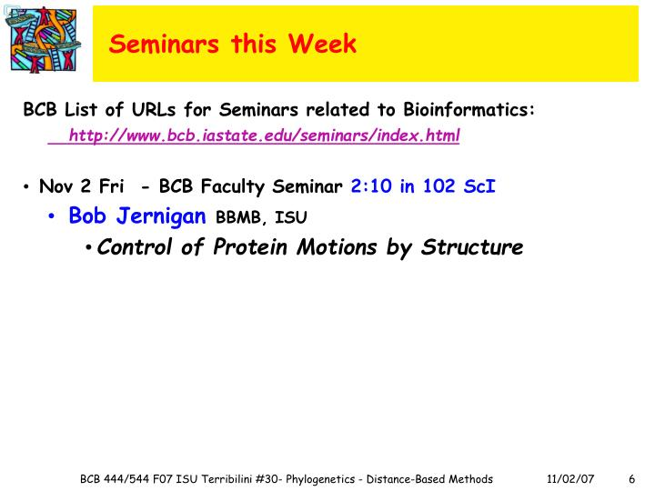 Seminars this Week