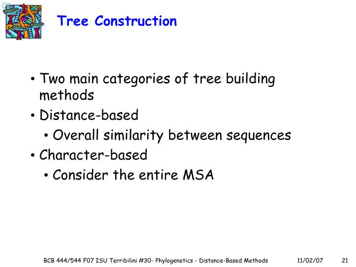 Tree Construction