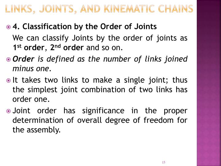 LINKS, JOINTS, AND KINEMATIC CHAINS