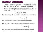 number synthesis1