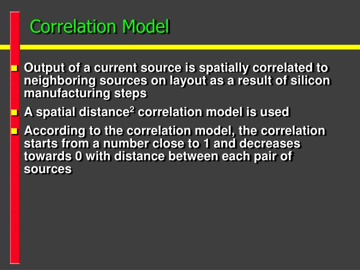 Correlation Model