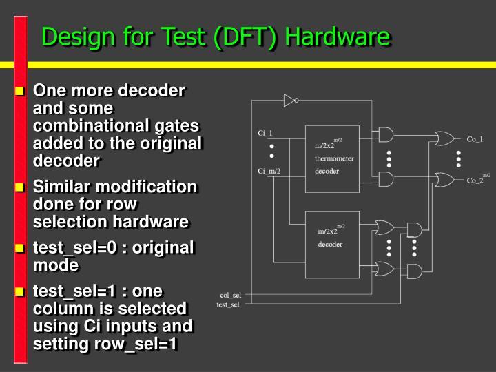 Design for Test (DFT) Hardware