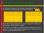 estimation of process variations1