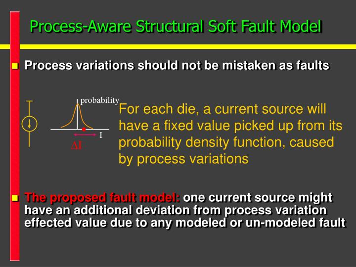 Process-Aware Structural Soft Fault Model