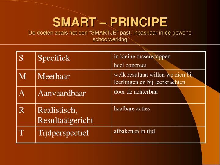 SMART – PRINCIPE