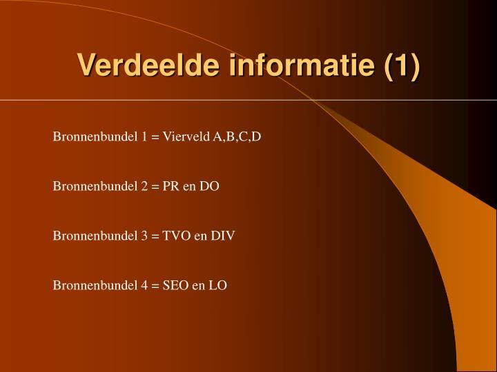 Verdeelde informatie (1)