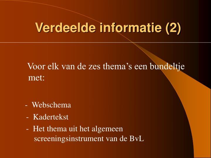 Verdeelde informatie (2)