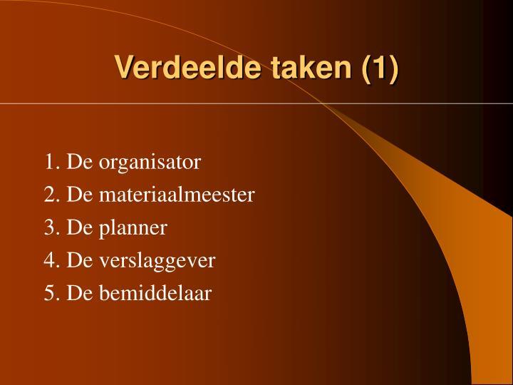 Verdeelde taken (1)