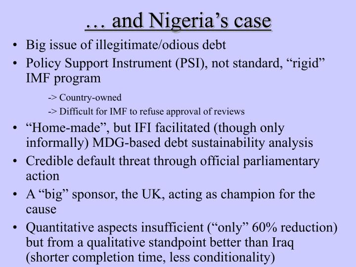 … and Nigeria's case