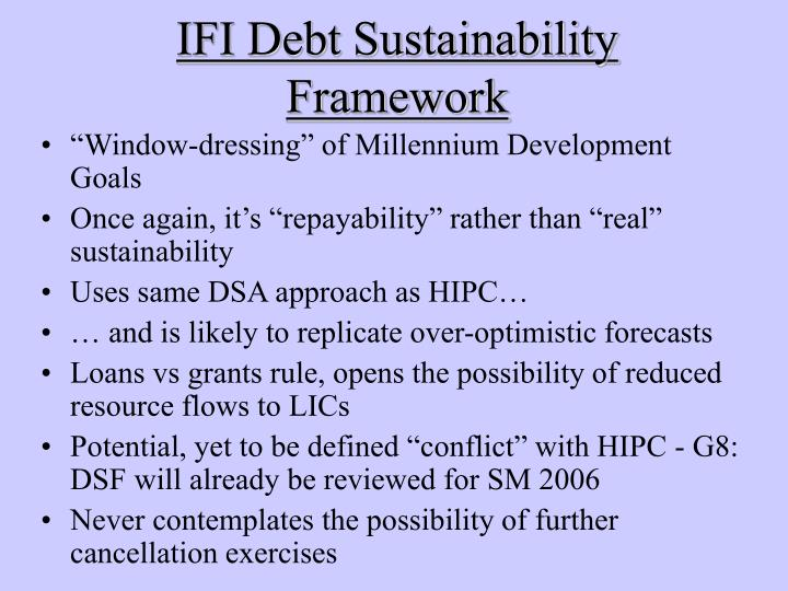 IFI Debt Sustainability Framework