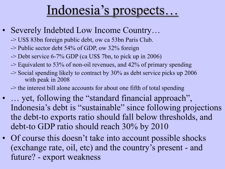 Indonesia's prospects…