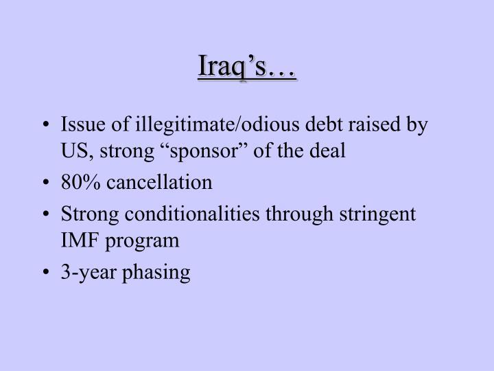 Iraq's…