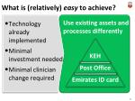 what is relatively e asy to achieve