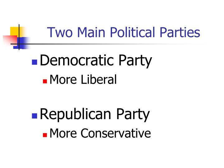 what are the two main political parties in the us