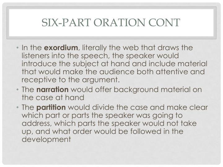 Six-Part Oration