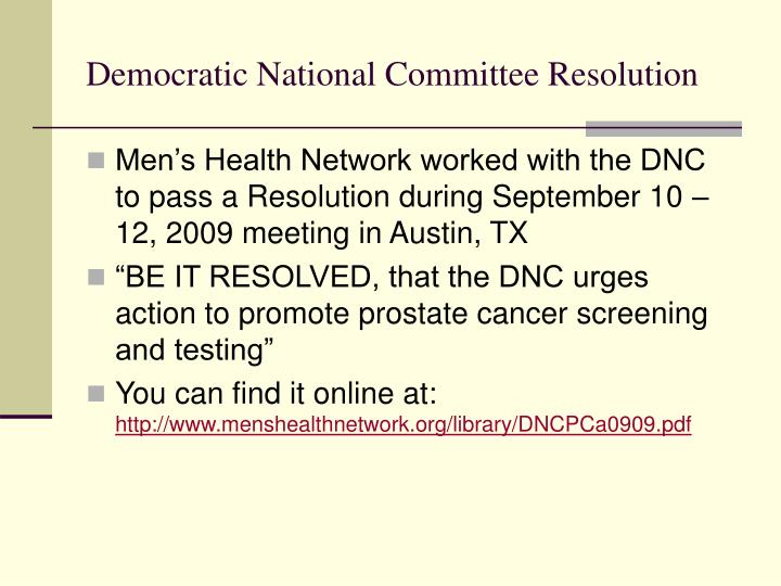 Democratic National Committee Resolution