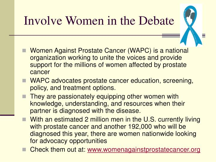 Involve Women in the Debate