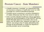 prostate cancer state mandates