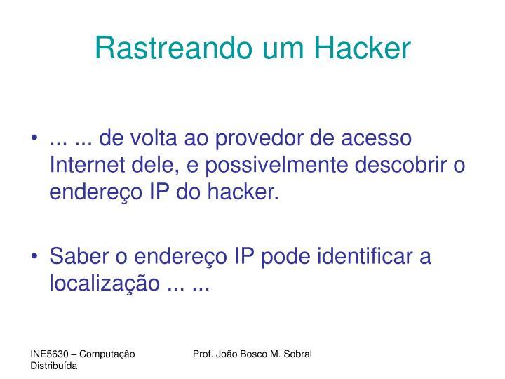 Rastreando um Hacker