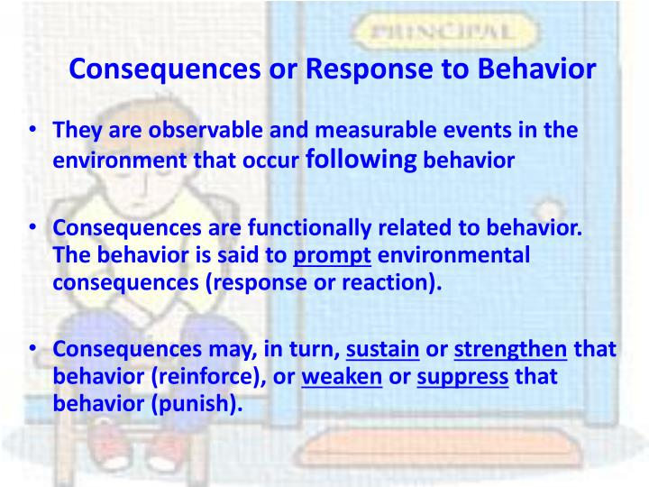 Consequences or Response to Behavior